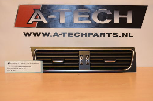 luchtrooster dashboard midden A4 8K 8t1820951